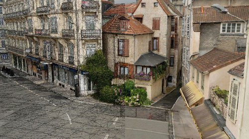 Modeling in 3D the historic city of Pau, France